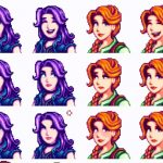 Revealing Cleavage Portrait Mod for Stardew Valley