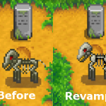 Skeletal Undead Horse Replacement Mod for Stardew Valley