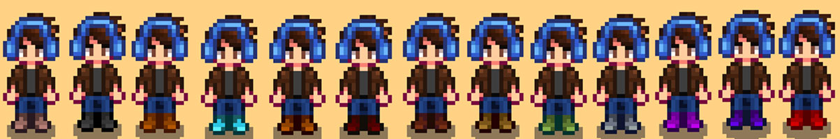 Shoe Color Replacement Mod for Stardew Valley