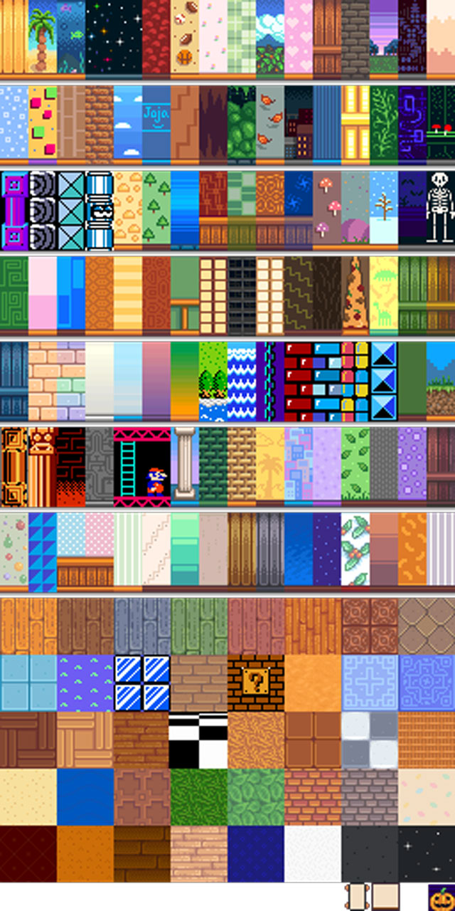 Nintendo themed furniture wallpaper mod for stardew valley for 1234 get on the dance floor hd video download