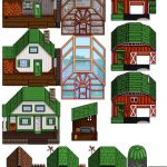 Recolored Buildings Alt Brick House Mod for Stardew Valley