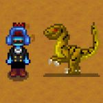 Tan and Green Velociraptor Mod for Stardew Valley