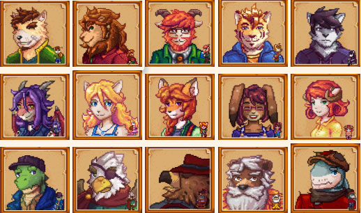 Anthro Characters Mod