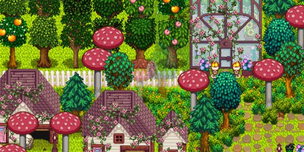 Overgrown Fairy Buildings Mod 4